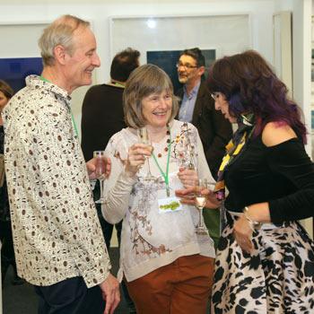 Exhibitors and potential clients Bath Art Fair