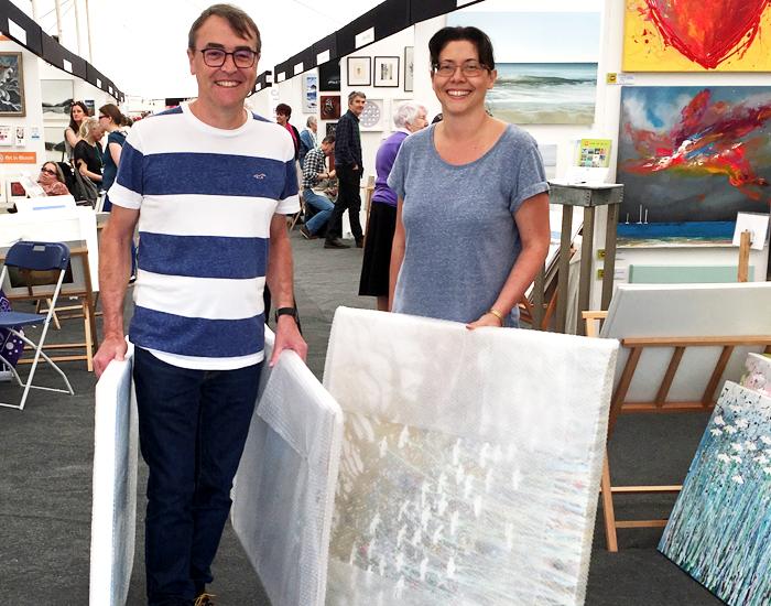 Bath Art Fair, People buying painting