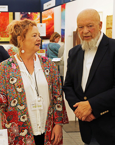 Alce Harfield with Michael Eavis