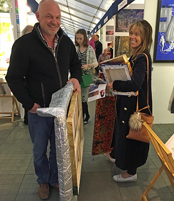 crowed at Bath Art Fair
